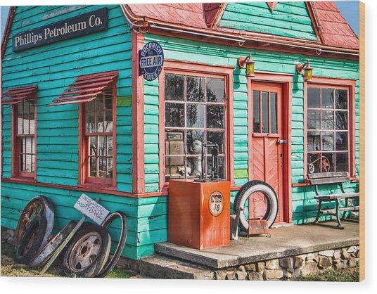 Vintage Phillips 66 Gas Wood Print