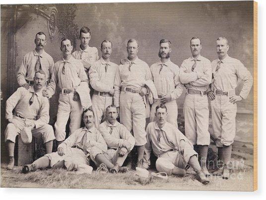 New York Metropolitans Baseball Team Of 1882 Wood Print