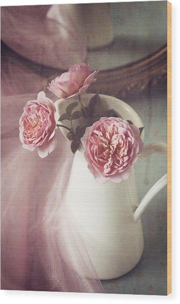 Vintage Pink Wood Print