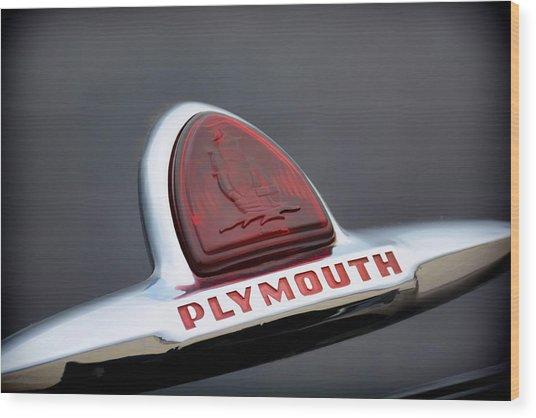 Vintage Plymouth Sailing Ships Emblem  Wood Print