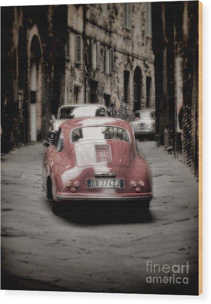 Vintage Porsche Wood Print