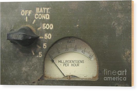 Vintage Radiation Meter Wood Print