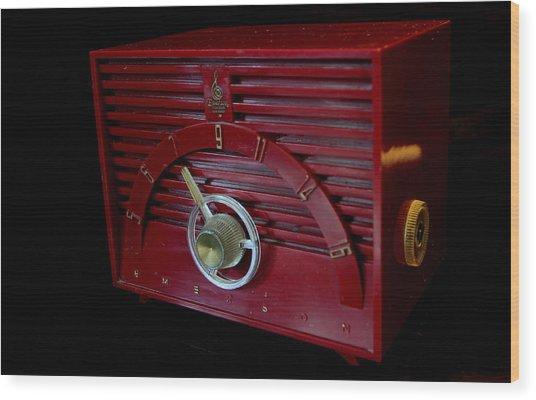 Vintage Radio Wood Print
