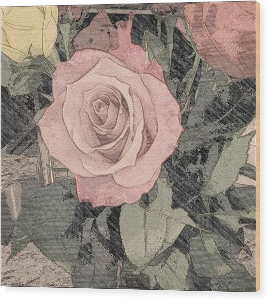 Vintage Romance Rose Wood Print