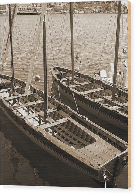 Vintage Sail Wood Print