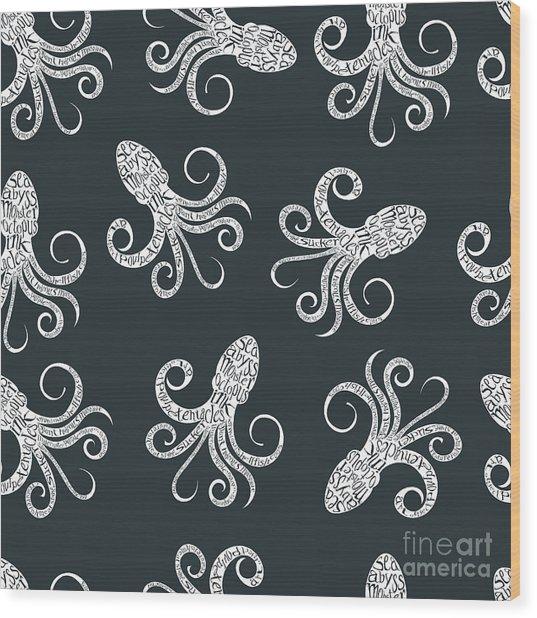 Vintage Seamless Pattern With Wood Print