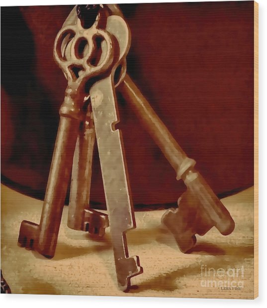 Vintage Skeleton Keys I Wood Print