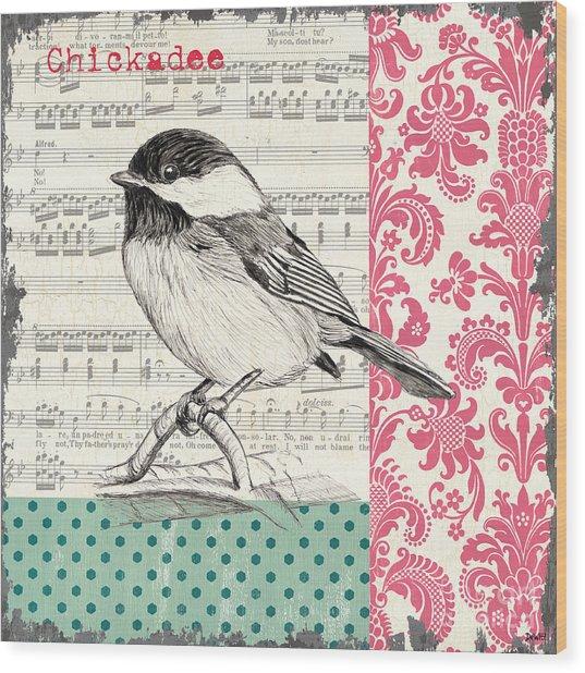 Vintage Songbird 3 Wood Print