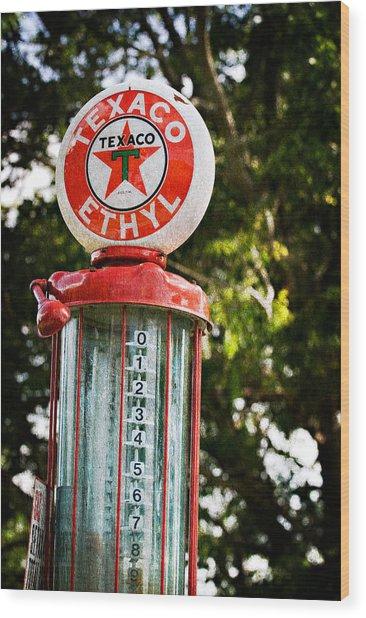 Vintage Texaco Gas Pump Wood Print