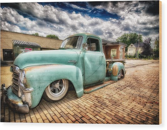 Vintage Truck  Wood Print