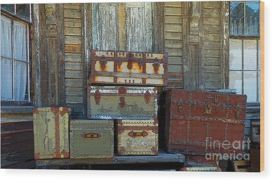 Vintage Trunks   Sold Wood Print
