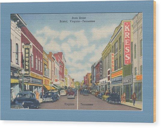 Vintage Va Tn Postcard Kress  Wood Print