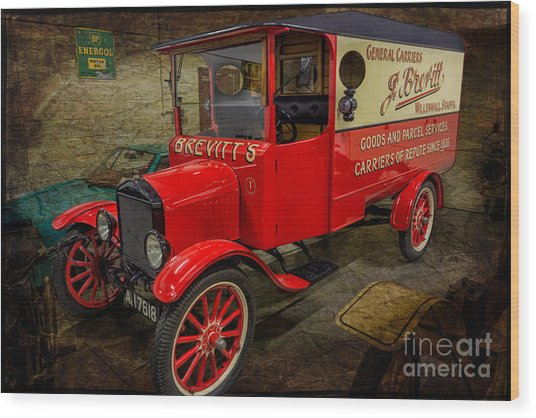 Vintage Van Wood Print