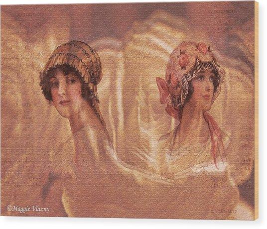 Vintage Victorian Rivals II Wood Print