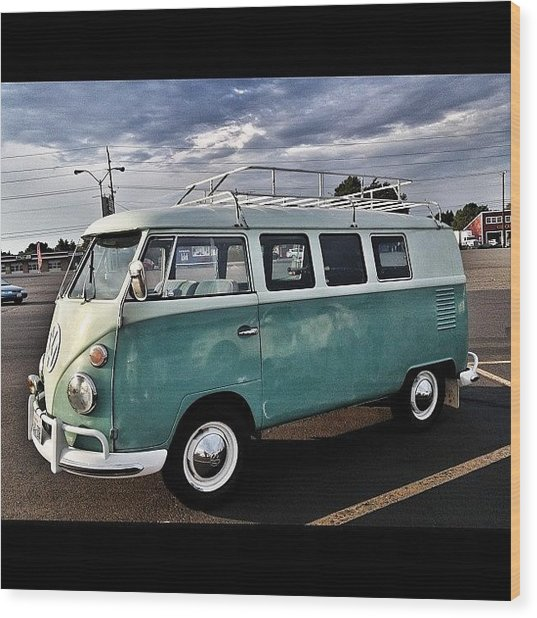 Vintage Volkswagen Bus 2 Wood Print