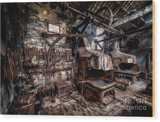 Vintage Workshop Wood Print