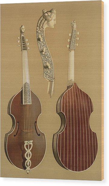 Viola Da Gamba, Or Bass Viol Wood Print