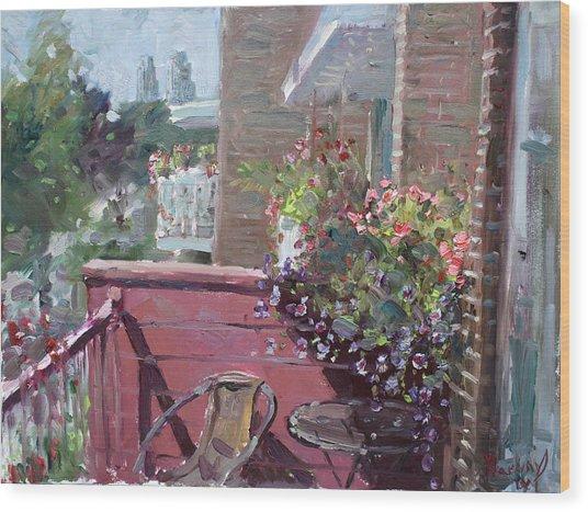 Viola's Balcony Wood Print