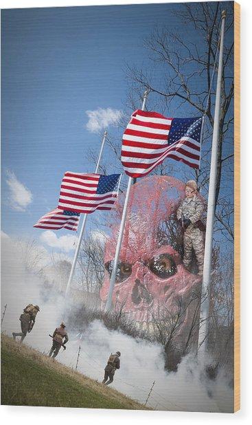 Violence Usa Wood Print