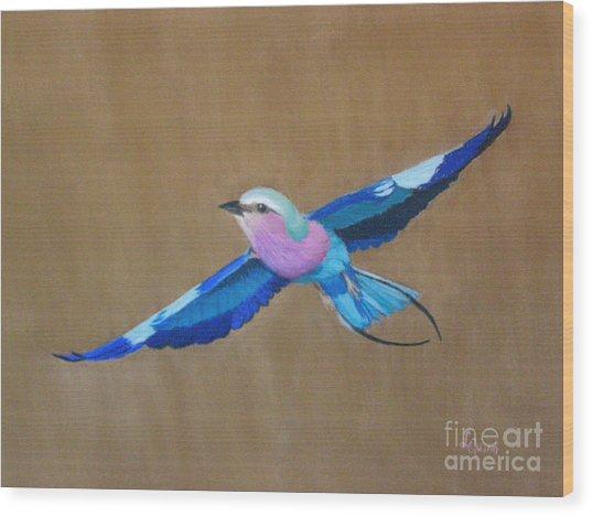 Violet-breasted Roller Bird II Wood Print