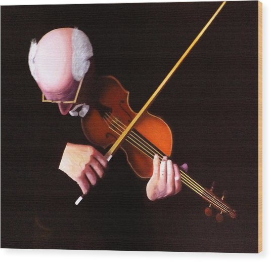 Violin Virtuoso-grandfather Inspired Wood Print