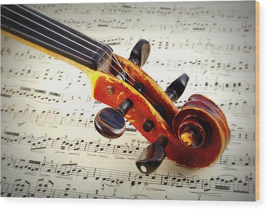 Violine Wood Print