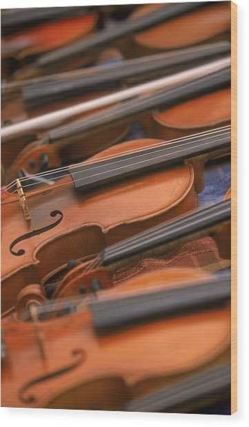 Violins Wood Print