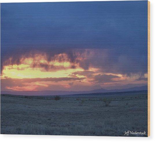 Virga Sunset Wood Print