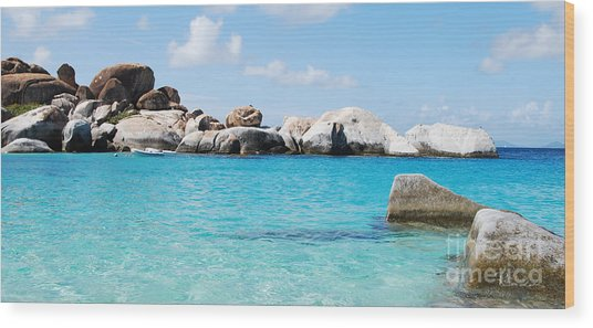Virgin Islands The Baths Wood Print