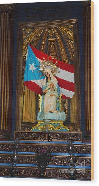 Virgin Mary In Church Wood Print