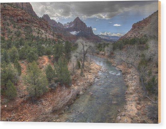 Virgin River Wood Print