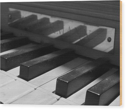 Virginal Keys Wood Print by Jeffrey Peterson