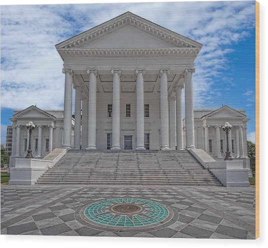 Virginia Capitol Wood Print