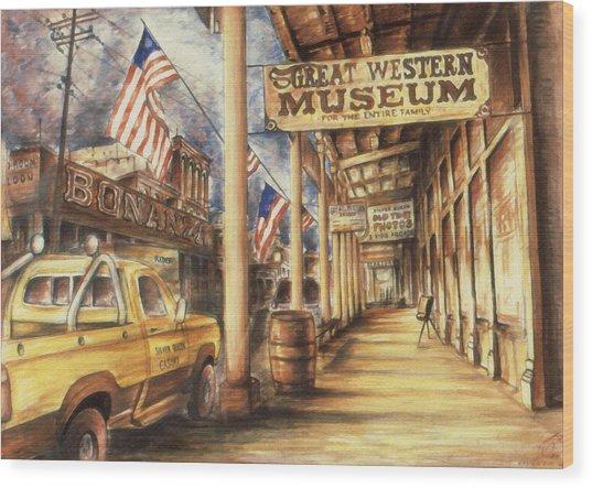 Virginia City Nevada - Western Art Painting Wood Print