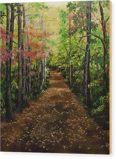 Virginia Path Wood Print