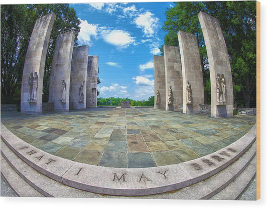 Virginia Tech War Memorial Wood Print