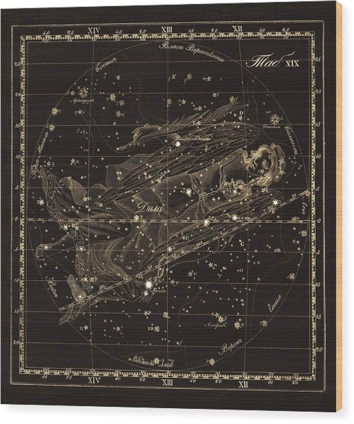 Virgo Constellation, 1829 Wood Print by Science Photo Library