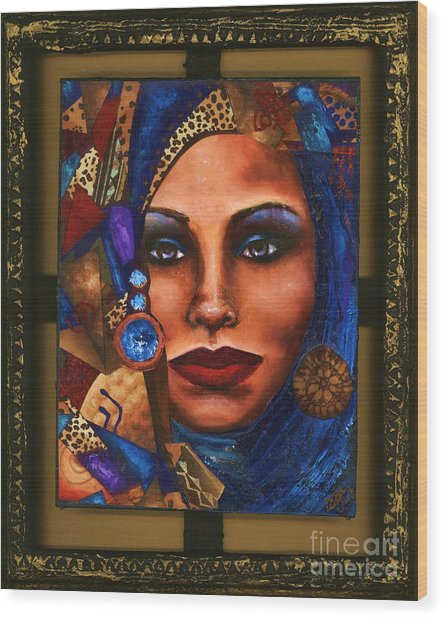 Vision In Blue Wood Print