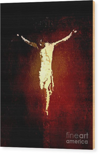 Vision Of Christ Wood Print