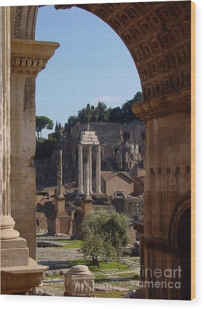 Visions Of Rome Wood Print