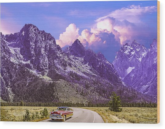 Visit Wyoming Wood Print