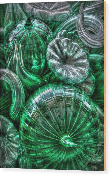 Vitreous Verdant Abstract Wood Print