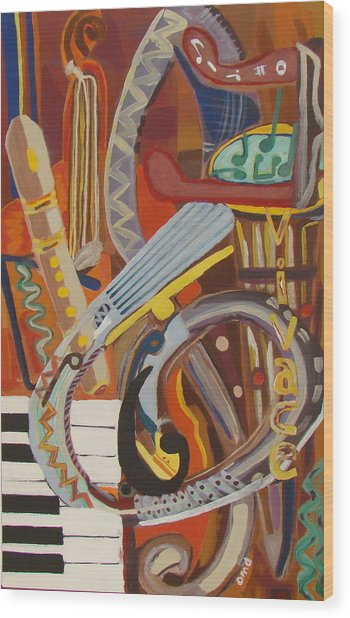 Vivace I Wood Print by Olivia  M Dickerson