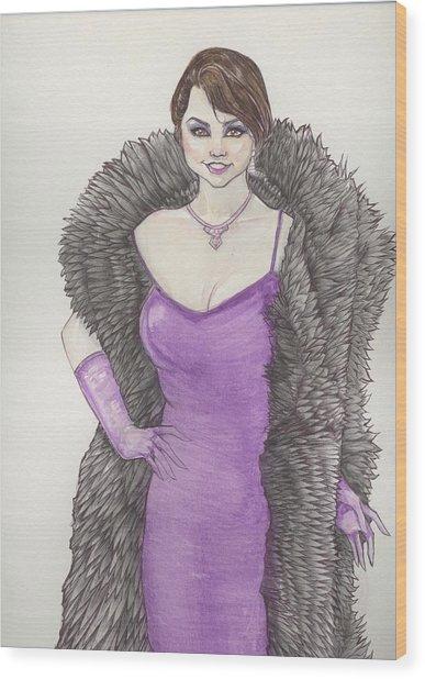 Vivacious Samantha Wood Print