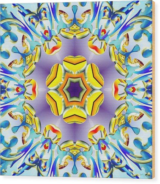 Wood Print featuring the digital art Vivid Expansion by Derek Gedney