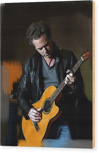 Vivid  Lindsey Buckingham  Wood Print