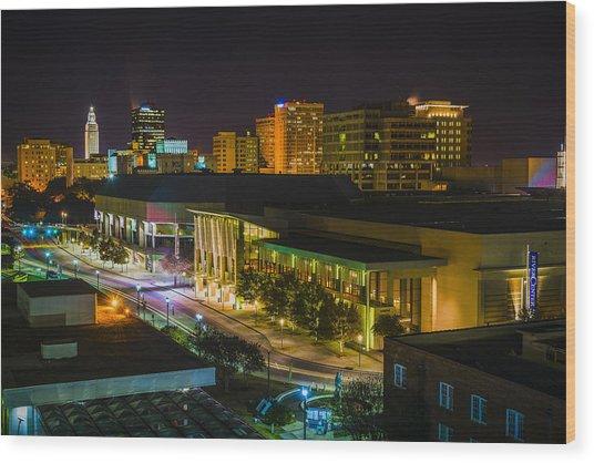 Vividly Downtown Baton Rouge Wood Print