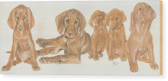 Vizsla Puppies Wood Print