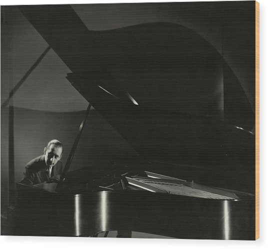 Vladimir Horowitz At A Grand Piano Wood Print