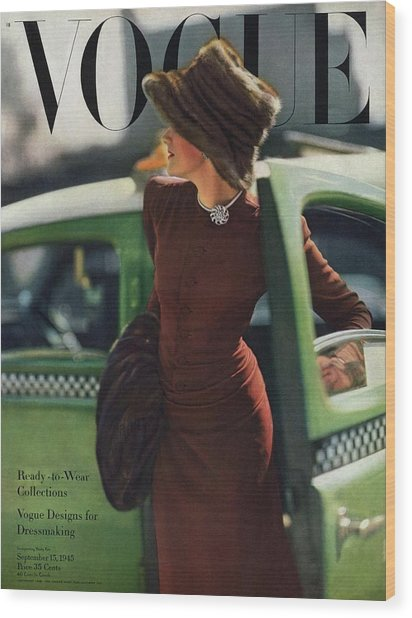 Vogue Cover Featuring A Woman Getting Wood Print